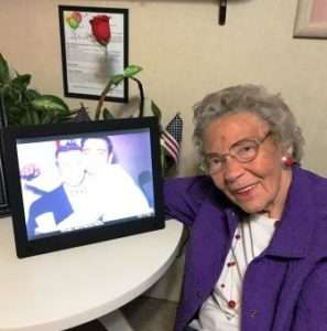 Grandma with her Digital Photo Frame