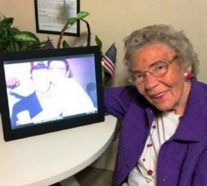 Grandma with her digital frame